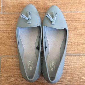 Crocs Tassel Flats Pointy Toe Iconic Comfort
